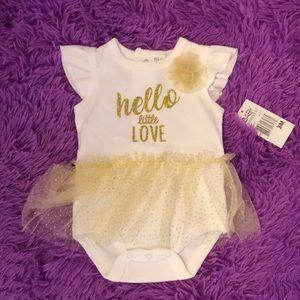 Baby Essentials One Pieces - Baby essentials tutu shirt